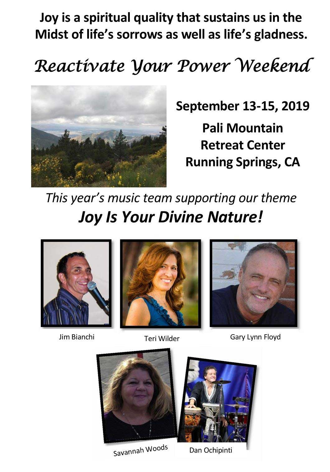 Pali Retreat Flyer